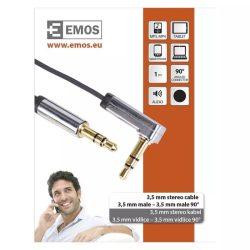 EMOS Jack kábel 3.5mm ST dugó-3.5mm ST dugó 1m SM7031BL