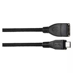 EMOS USB kábel 2.0 A - mikro B csatlakozó OTG 15cm fekete SM7053