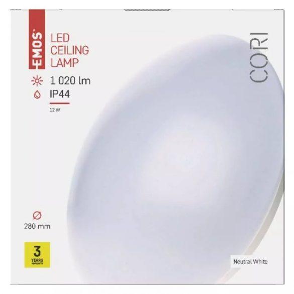 EMOS Cori LED mennyezeti lámpa 12W 1020lm IP44 term. fehér ZM3401