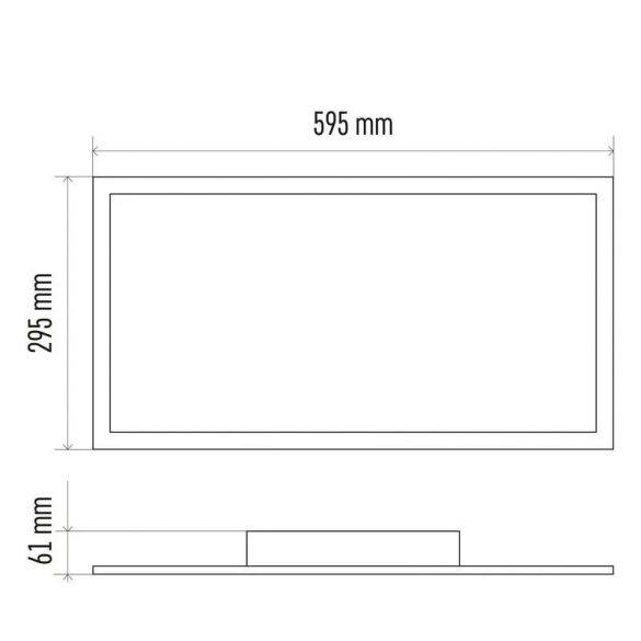 EMOS LED MENNYEZETI PANEL 30x60, 24W, DIMM., ÁLLÍTHATÓ SZÍNHŐM. ZM5182