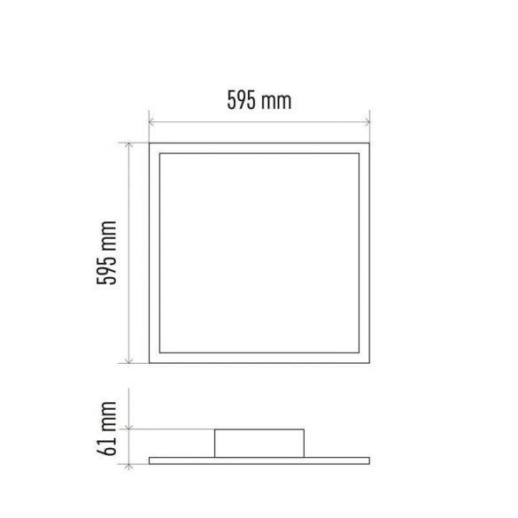 EMOS LED MENNYEZETI PANEL 60x60, 36W, DIMM., ÁLLÍTHATÓ SZÍNHŐM. ZM5183