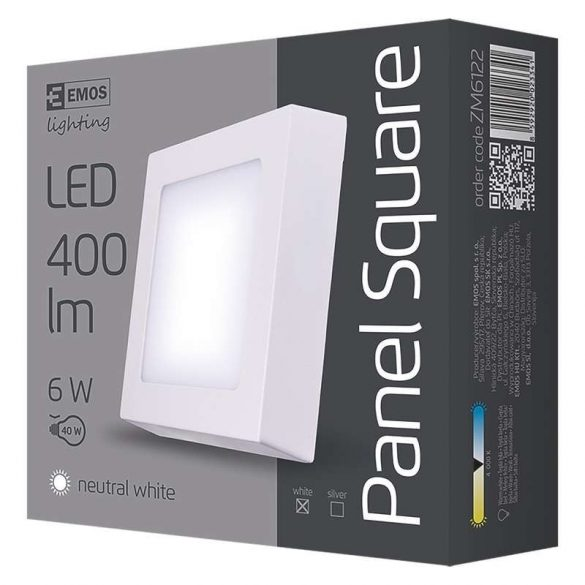 EMOS LED PANEL FALON KÍVÜLI 6W NW IP20