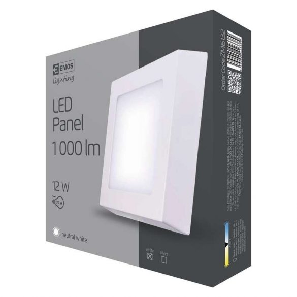 EMOS LED PANEL FALON KÍVÜLI 12W NW IP20