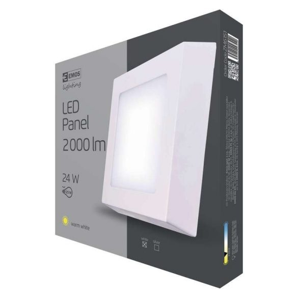 EMOS LED PANEL FALON KÍVÜLI 24W WW IP20