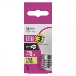 EMOS Classic LED izzó kisgömb E27 6W 470lm természetes fehér ZQ1120