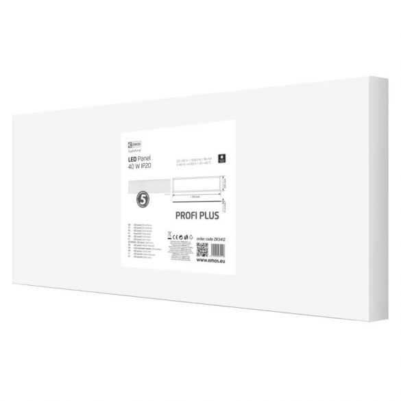 EMOS Profi Plus LED panel beépíthető 40W 4240lm IP20 term. fehér ZR3412