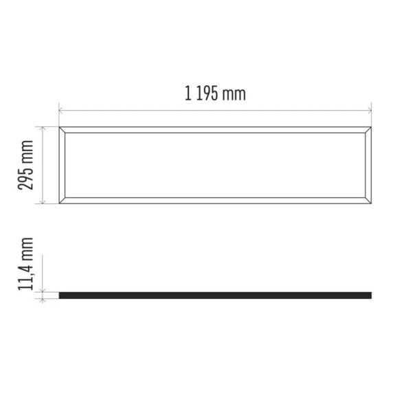EMOS LED panel 40W 4000lm UGR IP20 természetes fehér  ZR3422