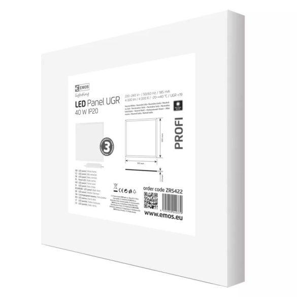 EMOS Profi LED panel beépíthető 40W 4400lm IP20 UGR természetes fehér ZR5422