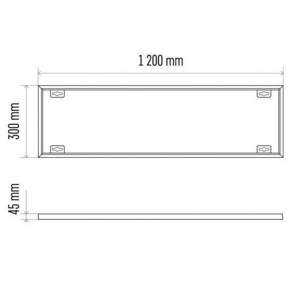 EMOS LED panel keret 30x120cm ZR9035