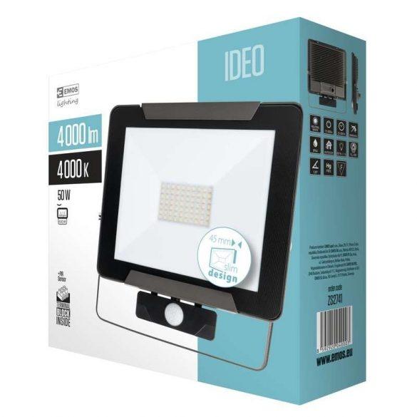 EMOS LED reflektor PIR 50W IDEO, NW