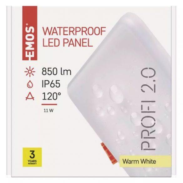 EMOS Exclusive LED panel beépíthető 11W 850lm IP65 meleg fehér ZV2131