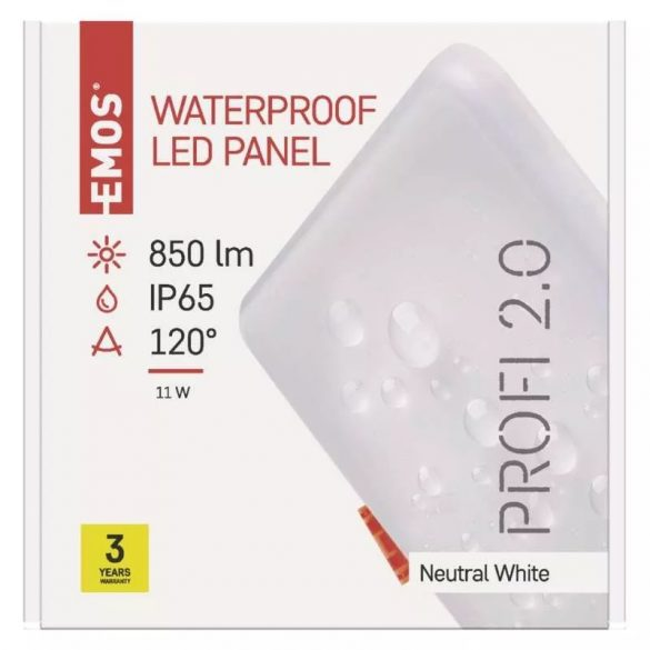EMOS Exclusive LED panel beépíthető 11W 850lm IP65 természetes fehér ZV2132