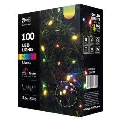 EMOS KARÁCSONYI FÉNYF CLASSIC 10M 100LED IP44 IDŐZÍTŐ SZÍNES ZY0817T