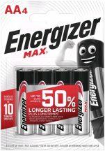 Energizer Max AA ceruza elem LR6 bl/4