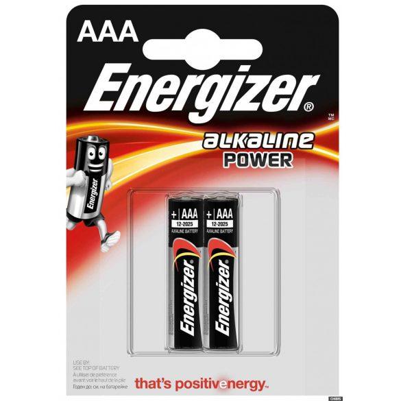 Energizer Alkaline Power AAA mikró alkáli elem (LR03) BL/2