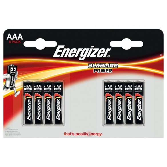 Energizer Alkaline Power AAA mikró alkáli elem (LR03) BL/4+4