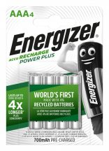 Energizer PowerPlus Pre.Charged NI-Mh akku AAA (HR03) 700 mAh bl/4