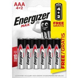 Energizer Max AAA mikró elem (LR03) BL/4+2
