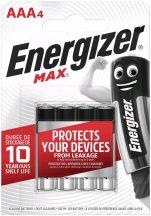 Energizer Max AAA mikró elem (LR03) BL/4