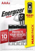 Energizer Max AAA mikró elem (LR03) BL/8