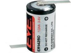 "EVE LS14250 3,6V lithium(Li-SOCL2) elem 1/2 ceruza (1/2AA) ""Z"" forrfüllel"