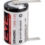 """EVE LS14250 3,6V lithium(Li-SOCL2) elem 1/2 ceruza (1/2AA) """"U"""" forrfüllel"""