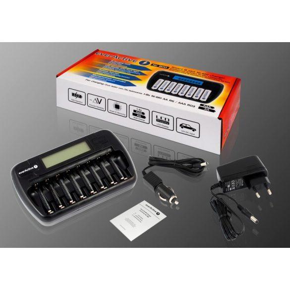 everActive NC-800 professzionális akkutöltő akár 8db AA vagy AAA akkuhoz