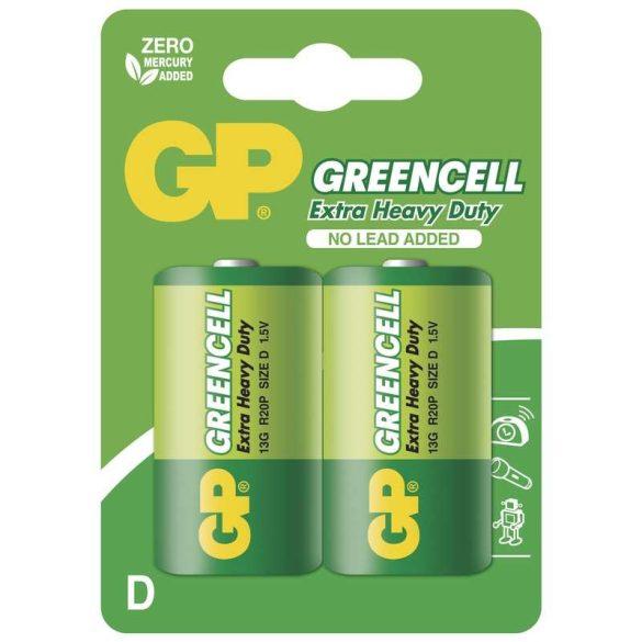 GP Greencell góliát elem R20 bliszteres/2 B1241