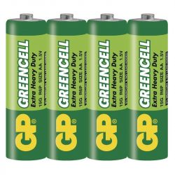 GP Greencell ceruza elem R6 fóliás/4 (B1220,GP15G-S4)