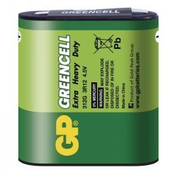 GP Greencell lapos elem 4,5V fóliás (B1260, GP3R12G-S1)