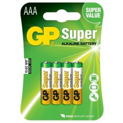 GP Super alkáli elem mikró AAA (LR03) bliszteres/4 B1311