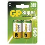 GP Super alkáli elem baby C (LR14) BL/2