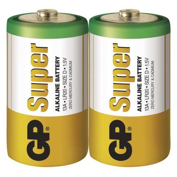 GP Super alkáli elem góliát D (LR20) fóliás/2 (B1340,GP13A-S2)