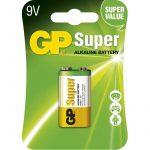 GP Super alkáli elem 9V (6F22) bliszteres/1