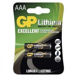 GP LÍTHIUM ELEM FR03 (AAA) 2DB/BLISZTER (B15112,GP24LF-C2)