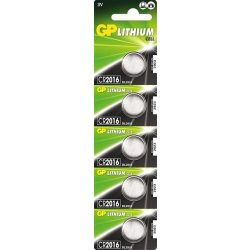 GP lithium gombelem CR2016- 3V bl/5 B1516