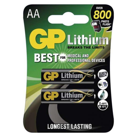 GP LÍTHIUM ELEM FR6 (AA) 2DB/BLISZTER (B15212,GP15LF-C2)