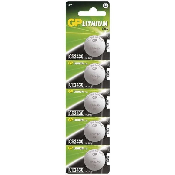 GP CR2430 lithium gombelem 3V bliszteres/5 B1530