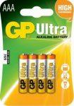 GP Ultra alkáli mikró elem 24AU (LR03) bliszteres/4