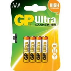 GP Ultra alkáli AAA mikró elem 24AU (LR03) bliszteres/4 (B1911,GP24AU-C4)