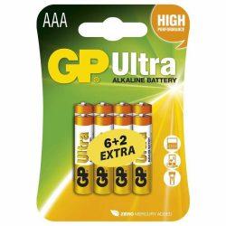 GP Ultra alkáli AAA mikró elem (LR03) bliszteres/6+2 B19118