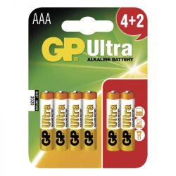 GP Ultra alkáli AAA mikró elem (LR03) bliszteres/4+2 (B1911MM,GP24AU-C4+2)