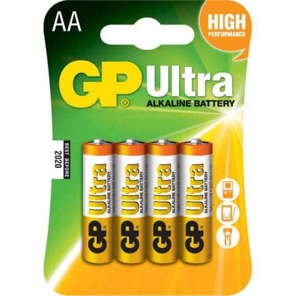 GP Ultra alkáli AA ceruza elem 15AU (LR6) bl/4 (B1921,GP15AU-C4)