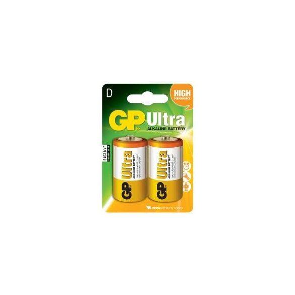 GP Ultra alkáli D góliát elem (LR20) bliszteres/2 (B1941,GP13AU-2U2)