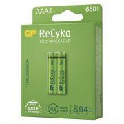 Akkumulátor GP ReCyko HR03 (AAA) 650mAh 2db B2116