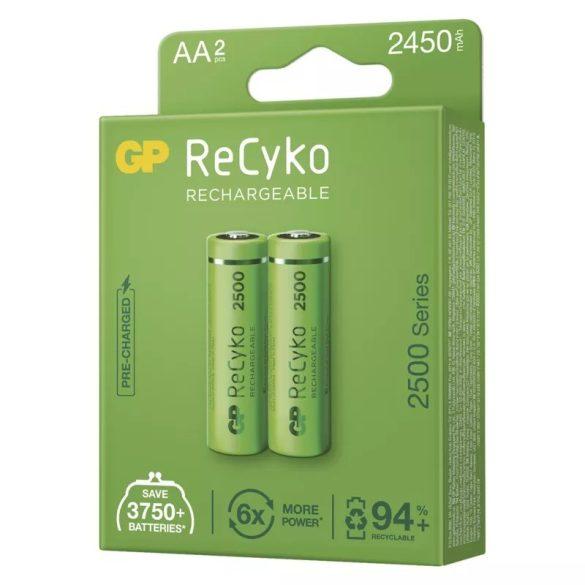 GP Recyko NI-MH akku ceruza AA (HR6) 2500 bl/2 B2125