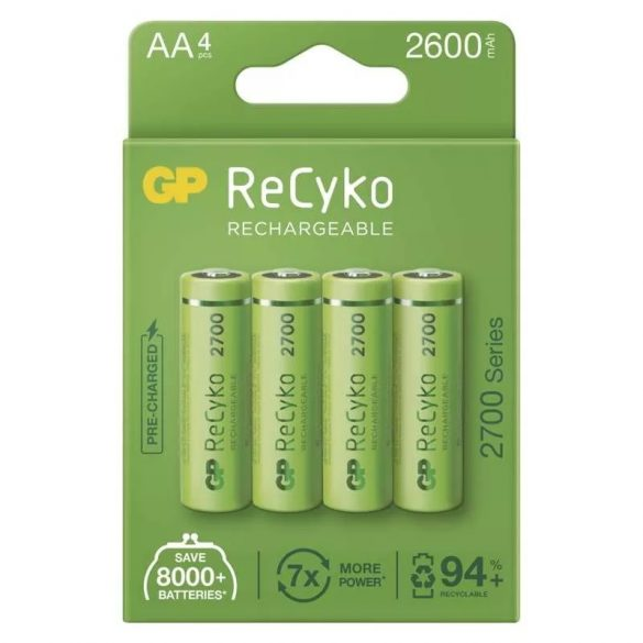 GP Recyko+ Ni-Mh akku AA (HR6) 2700mAh 4db/bl B21274