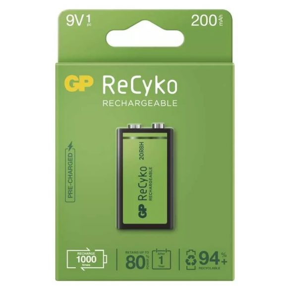 GP NI-Mh Recyko+ akku 9V 200mAh bl/1 B2152