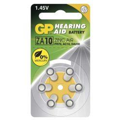 GP hallókészülék elem ZA10-es kód (sárga szín) 1,45V 6db/bliszter B3510
