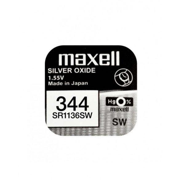 Maxell 344 ezüst oxid gombelem (SR42,SR1136) 1,55V